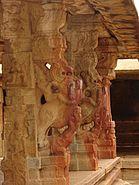 Yali pillars2 at Bhoganandishvara group of temples, Chikkaballapur district (1)