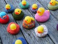 Yarn Bomb - ducks in the river (5519775528).jpg
