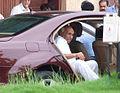 Yash Chopra visits Rajesh Khanna's home Aashirwad 12.jpg