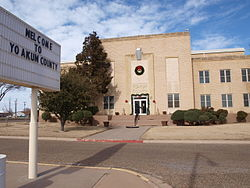 The Yoakum County Courthouse, located in Plains.