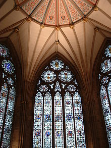 Windows In The Chapter House At York Minster Show Equilateral Arch With Typical Circular Motifs Tracery