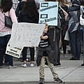 Young protester at a protest against Islamophobia and hate speech (29712374866).jpg
