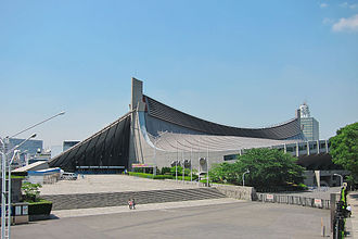 1964 Summer Olympics - Yoyogi National Gymnasium, designed by Kenzo Tange