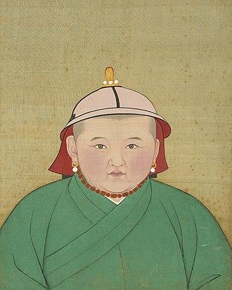 Rinchinbal Khan - Image: Yuan Emperor Album Irinchinbal Portrait