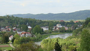 Zagórz - Zagórz view from top of Mariemont Hill