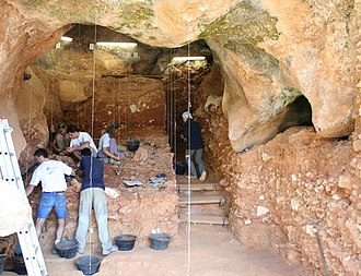 Atapuerca Mountains - Trinchera Zarpazos, part of the Galería system in 2006
