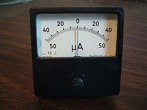 Ammeter - Zero-center ammeter