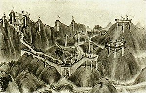 Battle of Bang Bo (Zhennan Pass) - Chinese fortifications at Zhennan Pass
