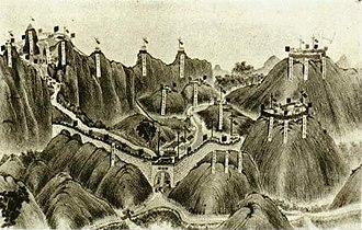 Battle of Bang Bo (Zhennan Pass) - Chinese fortifications at Zhennan Pass
