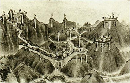 Chinese fortifications at Bang Bo Zhen Nan Guan-Qing-deployment.jpg