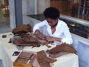 Cigars, Zigarren drehen, Vorführung, Mallorca 2008
