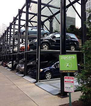 Zipcar - Zipcar parking in Pittsburgh.