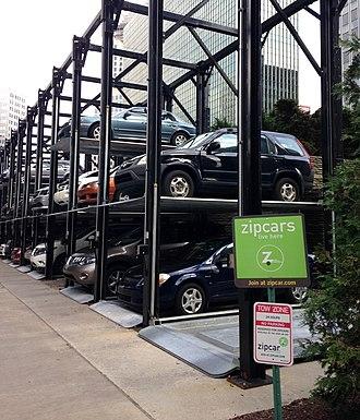 Zipcar - Zipcar parking in Pittsburgh.