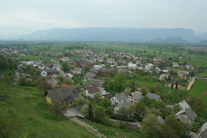 Ljubljana Basin - The northern part of the basin near the village of Žirovnica (in the background, Jelovica)