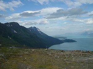 Kvænangen - Kvænangen fjord seen from the mountain plateau