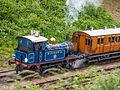 """""""Bluebell"""" departing Horstead Keynes with train of 4-wheelers (9129541573).jpg"""