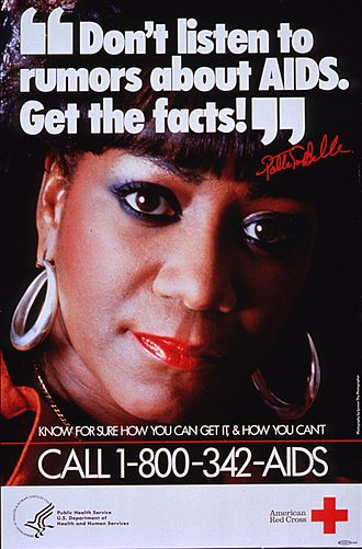 Patti LaBelle - LaBelle promoting AIDS awareness in the 1980s