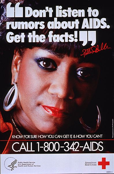 """File:""""Don't listen to rumors about AIDS, get the facts!"""" Patti LaBelle.A025218.jpg"""