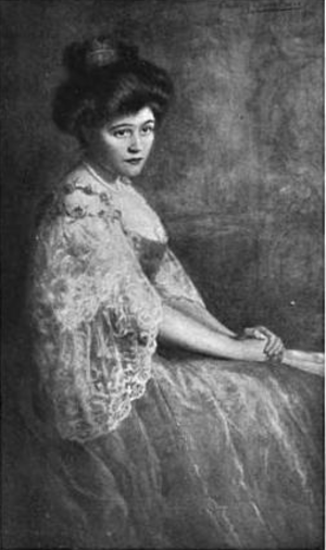 "Elizabeth Gowdy Baker - ""Life-size Aquarelle Portrait of Mrs. James A. Stillman"""