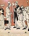 """""""Zug der Düsseldorfer Künstler"""" von 1837, Karikatur seiner malenden Zeitgenossen III, Andreas Achenbach – Ausschnitt.jpg"""
