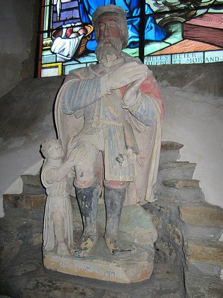 Statue de Saint-Roch. Église Saint-Martin de fr:Poilley (Manche)