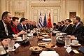 Ο ΥΠΕΞ Ν. Δένδιας στις διευρυμένες συνομιλίες αντιπροσωπειών Ελλάδας& Κίνας (49049738852).jpg