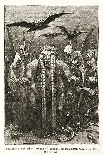 Russian science fiction and fantasy - The titular monster from Nikolai Gogol's gothic story Viy (1835)