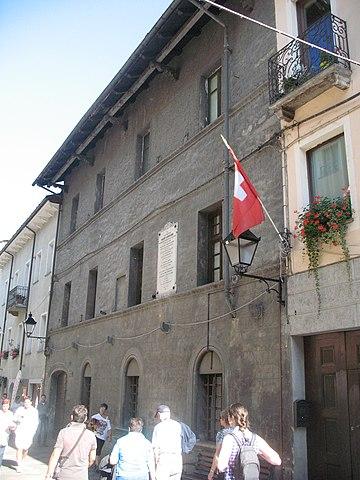 Дом в Аосте, где в 1033г. родился Ансельм