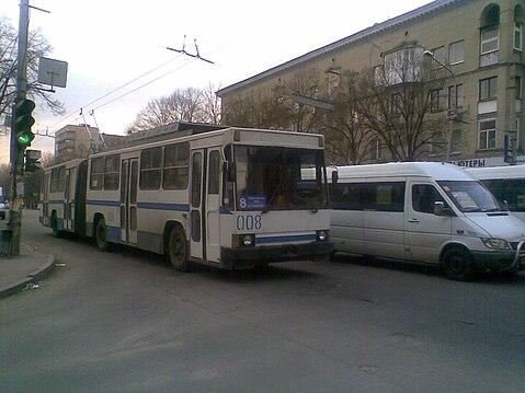 ЮМЗ-Т1 (№ 008) на маршруте № 8