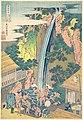 諸國瀧廻リ 相州大山ろうべんの瀧-Rōben Waterfall at Ōyama in Sagami Province (Sōshū Ōyama Rōben no taki), from the series A Tour of Waterfalls in Various Provinces (Shokoku taki meguri) MET DP141246.jpg