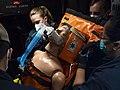 -USS Mount Whitney (LCC 20) medical evacuation drill in Gaeta, Italy, May 7, 2020- (49870988152).jpg