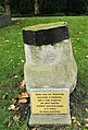 020210828 Monument, footprints of St Adalbert on the rock upon which he stood, Opole.jpg