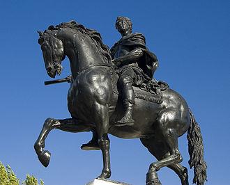 Queen Square, Bristol - Statue of William III by John Michael Rysbrack erected in Queen Square in 1736