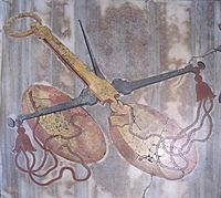 Raffigurazione della Bilancia nello zodiaco in Santa Maria degli Angeli