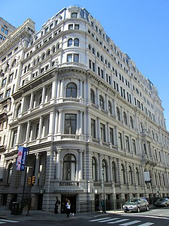 Henry Fernbach - New York Mutual Life Insurance Company Building, top three floors added later designed by Philip Roos