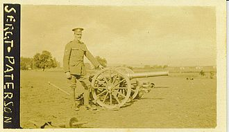 1st Argyll and Bute Artillery Volunteers - Sgt Paterson, 4th Highland (Mountain) Brigade, with 10-pdr mountain gun ca 1915.