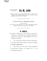 116th United States Congress H. R. 0000160 (1st session) - CLEAN Congress Act.pdf