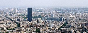 14th arrondissement of Paris - View over the 14th arrondissement, dominated by the Tour Montparnasse