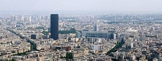 14th arrondissement of Paris - View over the arrondissement, dominated by the Tour Montparnasse