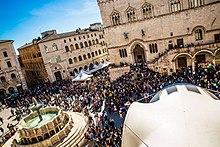 Eurochocolate a Piazza IV Novembre, Perugia