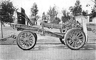 Canon de 155 L Modele 1917 Schneider - Image: 155mm Schneider Gun Modele 1917 Carriage in Travelling Position