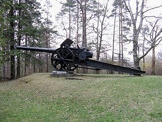 15 cm L/40 Feldkanone i.R. - Image: 15cm FK i RL40 Woodbridge 2