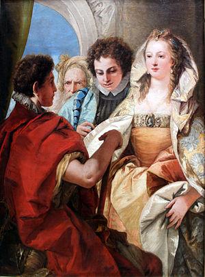 Giovanni Domenico Tiepolo - Image: 1751 Tiepolo Die Enthaltsamkeit Scipios anagoria
