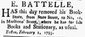 1785 EbenezerBattelle MassachusettsCentinel Feb2.png