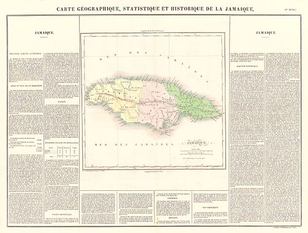 File:1825 Carez Map of Jamaica ( West Indies ) - Geographicus ...