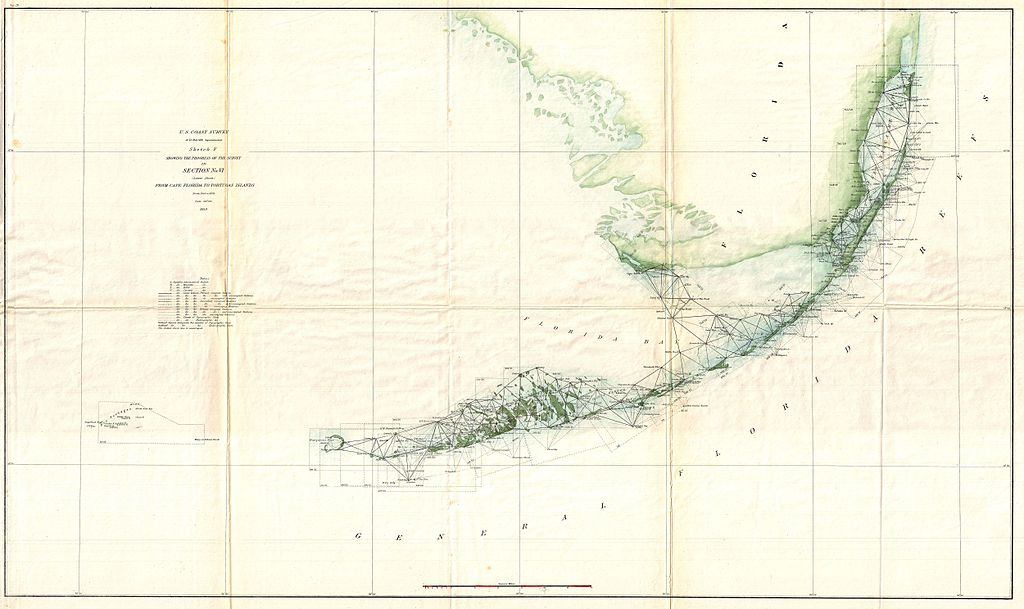 File US Coast Survey Triangulation Map Of The Florida Keys - Florida keys us map