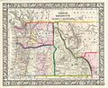 1866 Mitchell Map of Washington, Oregon, Idaho and Montana - Geographicus - WashingtonOregonIdaho-mitchell-1866.jpg