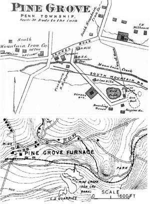 Pine Grove Iron Works - Image: 1872 and 1899 Pine Grove Iron Works