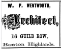 1873 Wentworth architect BostonHighlands BostonDirectory.png