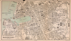 Timeline of Marseille - Map of Marseille, 1896